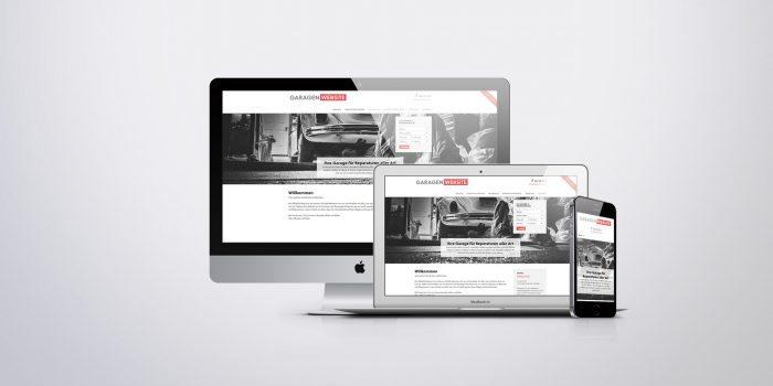 Garagen Website Vorschau